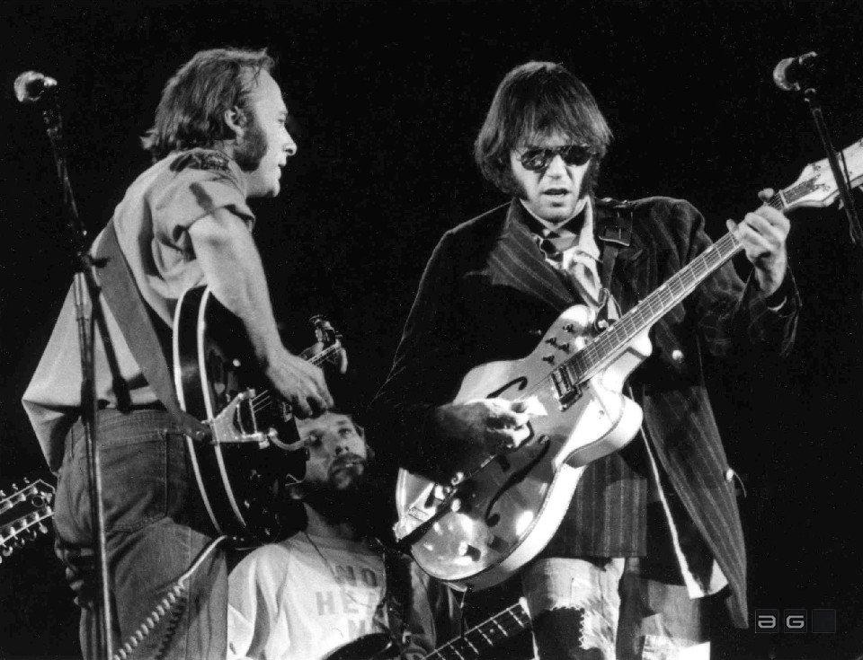 Crosby Stills Nash & Young by Barrie Wentzell