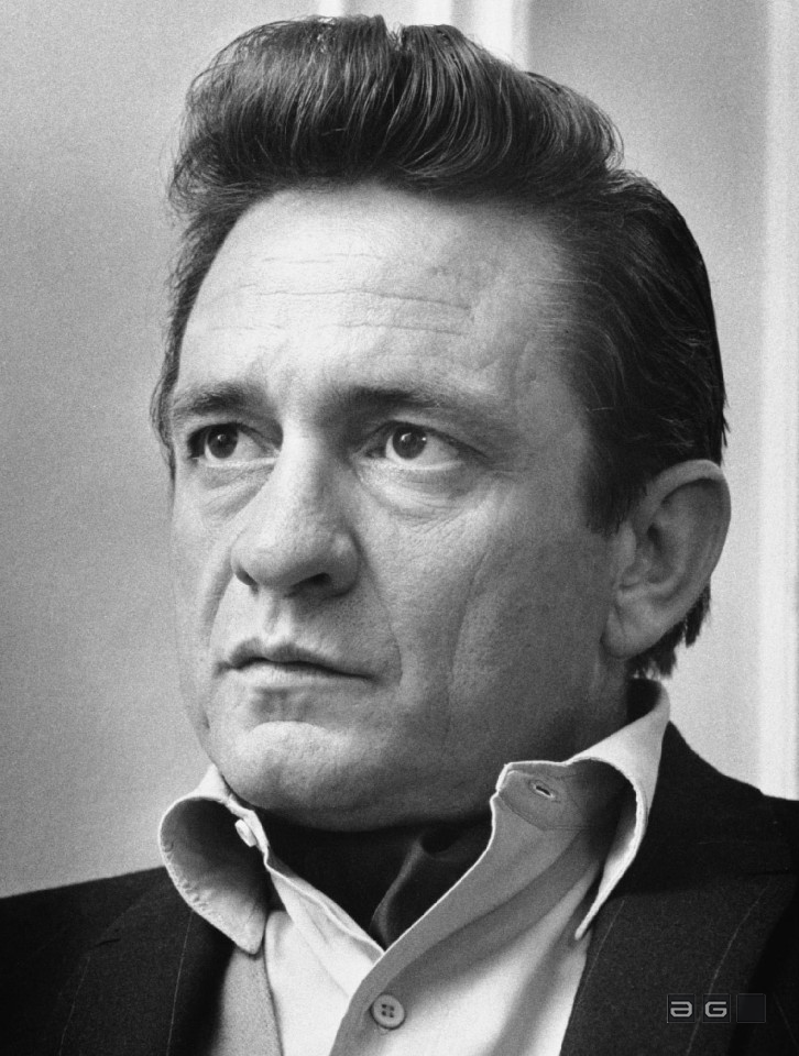 Johnny Cash by Barrie Wentzell