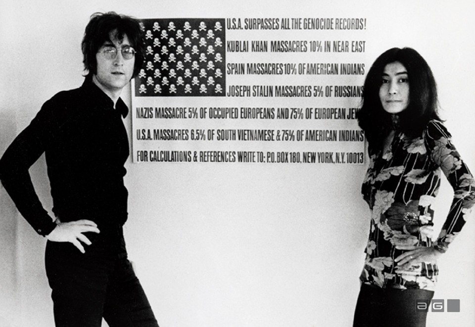John and Yoko by Barrie Wentzell