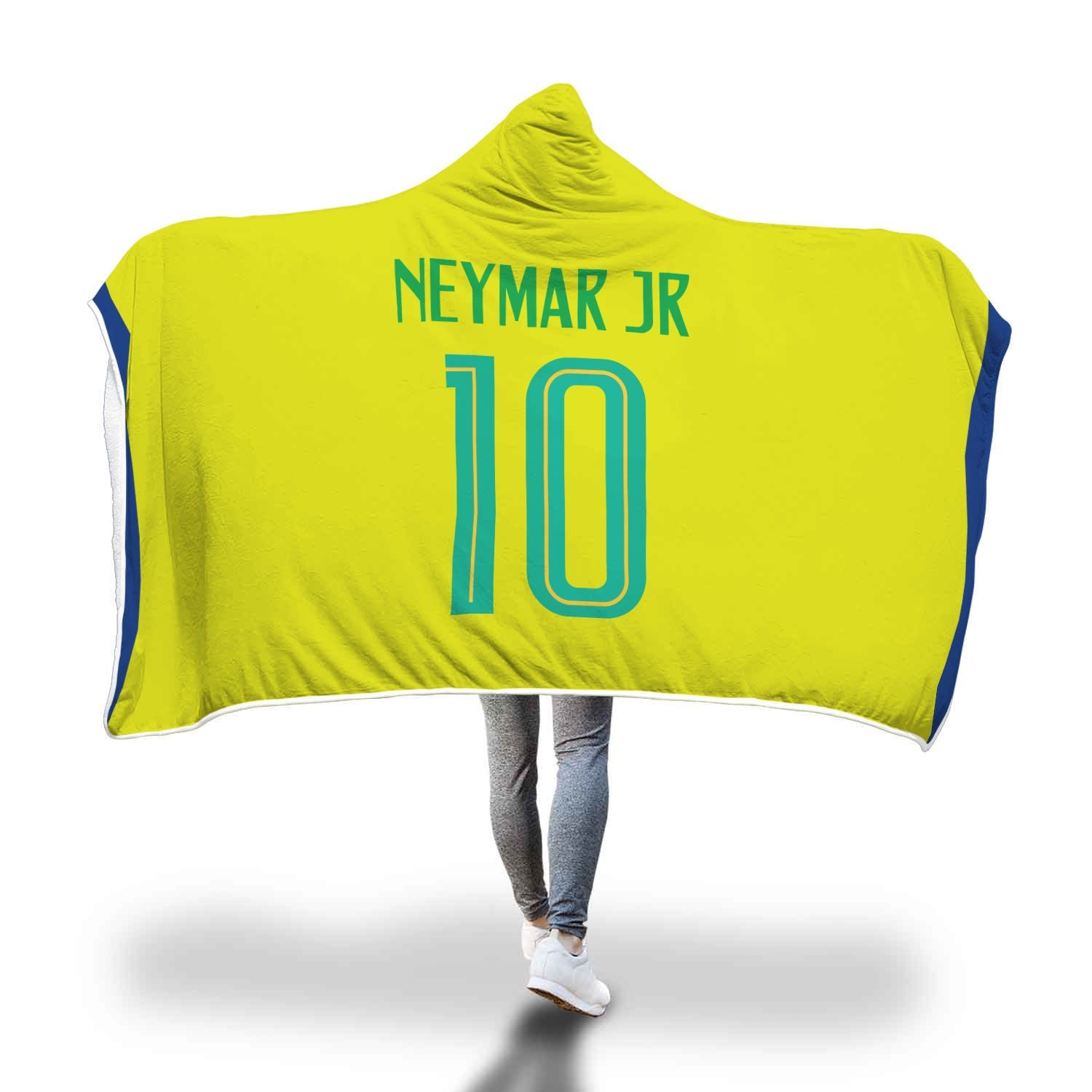 the best attitude e2c55 80838 Neymar Junior Brazil Home Jersey 2018 Hooded Blanket - FIFA World Cup