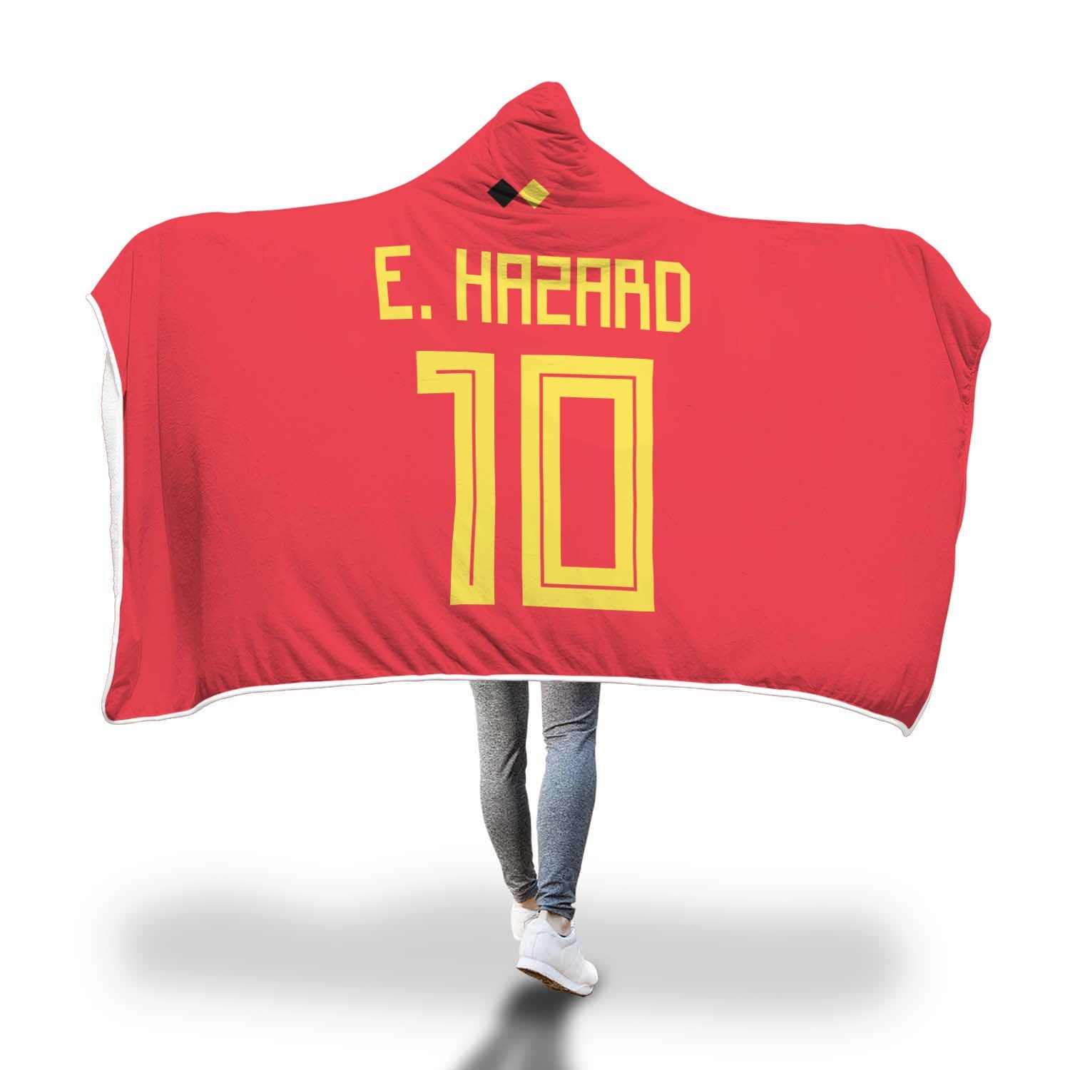 hot sale online 81442 54def Eden Hazard Belgium Home Jersey 2018 Hooded Blanket - FIFA World Cup