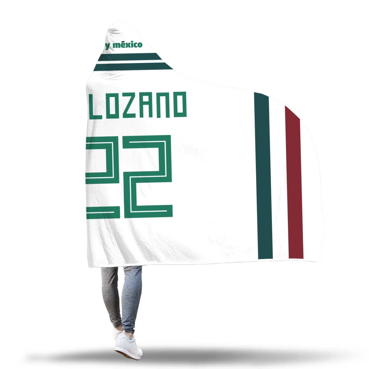 watch 030f2 232cd Hirving Lozano Mexico Away Jersey 2018 Hooded Blanket - FIFA World Cup