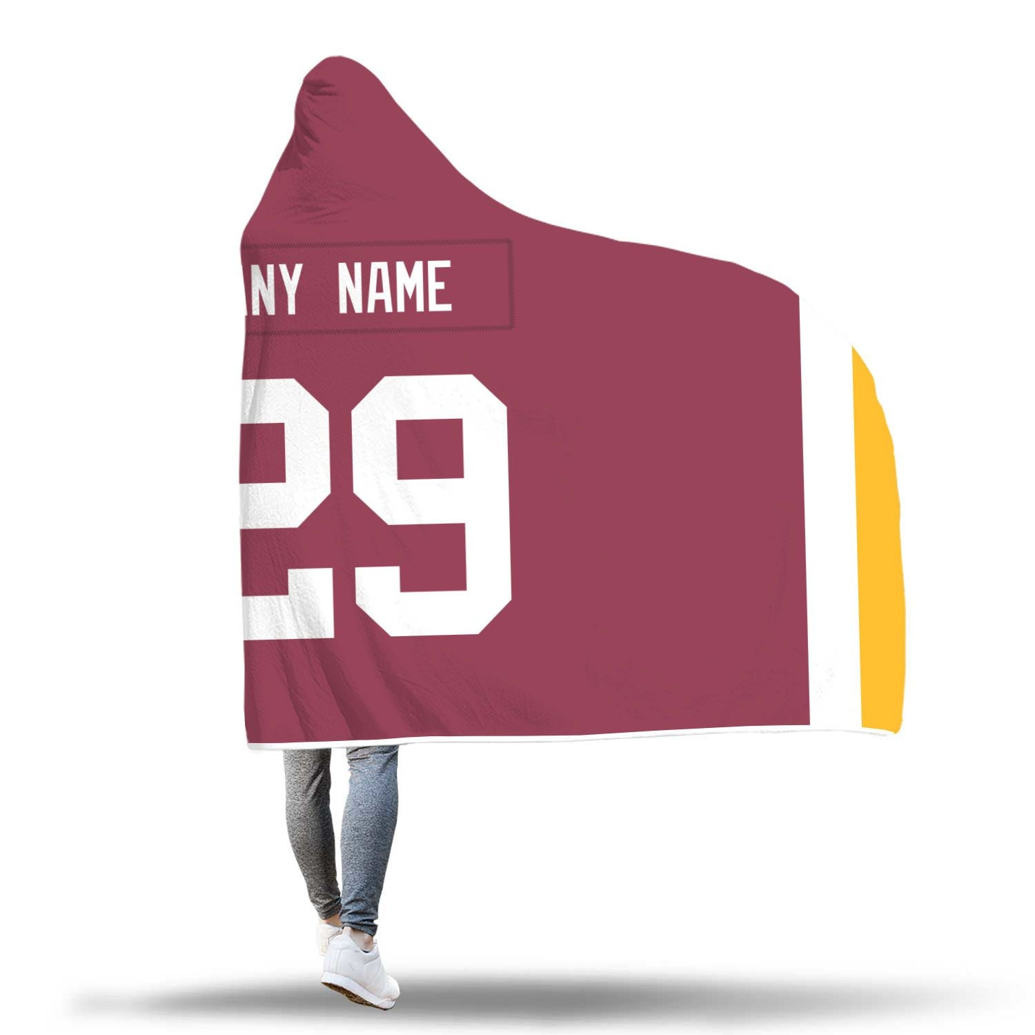 brand new fb66c 0ef43 Washington Redskins Hooded Blanket - Personalized Any Name & Any Number