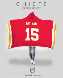 Hot Kansas City Chiefs Hooded Blanket Personalized Any Name & Any  hot sale