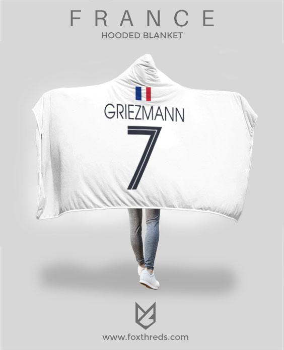 quality design 2af48 7fc55 Griezmann France Away Jersey 2018 Hooded Blanket - FIFA World Cup