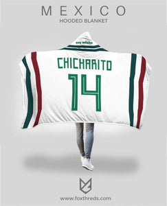 3461e355f3d Javier Chicharito Mexico Away Jersey 2018 Hooded Blanket - FIFA World Cup