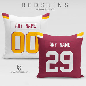f48c959e7 Washington Redskins Pillow Front and Back - Personalized Select Any Name   Any  Number