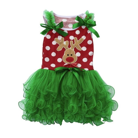 Christmas  Toddler Kids baby girl dress Tutu