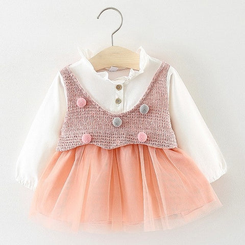 Lovely Little Girls Plaid Dress Toddler Kids Baby