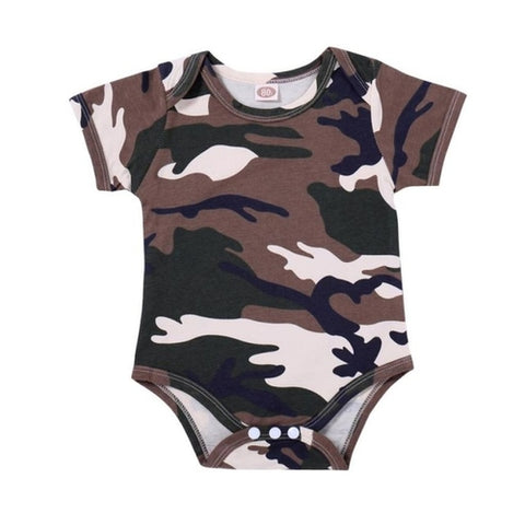Newborn Baby Camouflage Roupas Jumpsuit Toddler