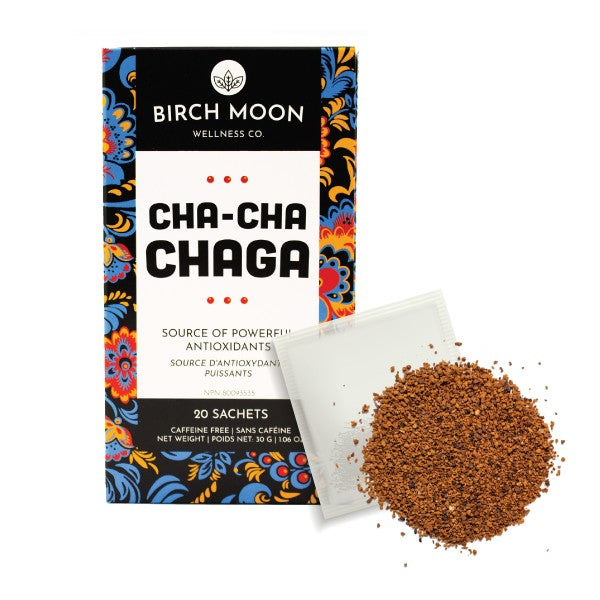 Cha-Cha Chaga Tea  Chaga Mushroom Tea Birch Moon Wellness Co.