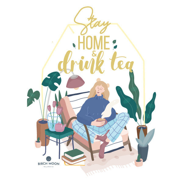 Tea + Tee Set – Wellness Trio Bundle with 'Stay Home & Drink Tea' T-shirt