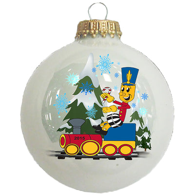 "2 5/8"" Glass Ornament with 2.5"" Print Area"