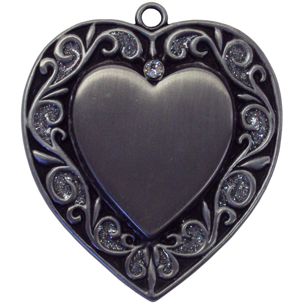 Pewter heart blank