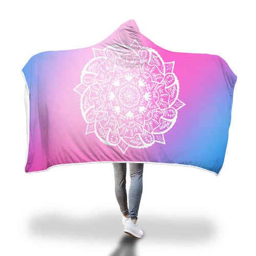 Cuss Word Mandala Hooded Blanket **Look Closely