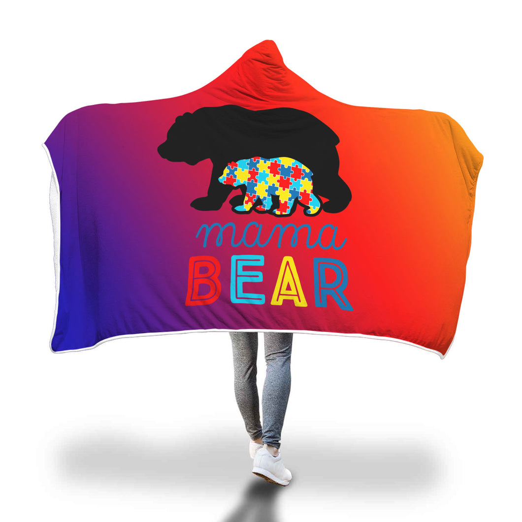 Autism Mama Hooded Blanket
