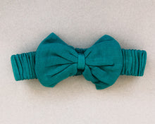 Load image into Gallery viewer, Jade Bow Tie Headband