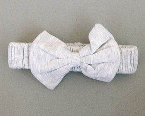 Your Favorite T-Shirt Grey Bow Tie Headband