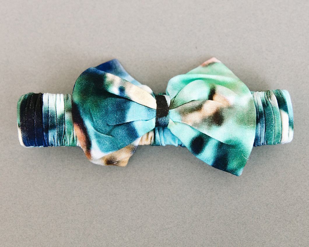 The Charli Print Bow Tie Headband