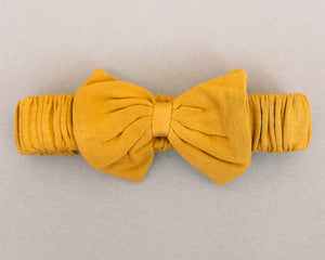 Golden Bow Tie Headband