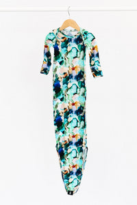 The Charli Print Knotted Gown