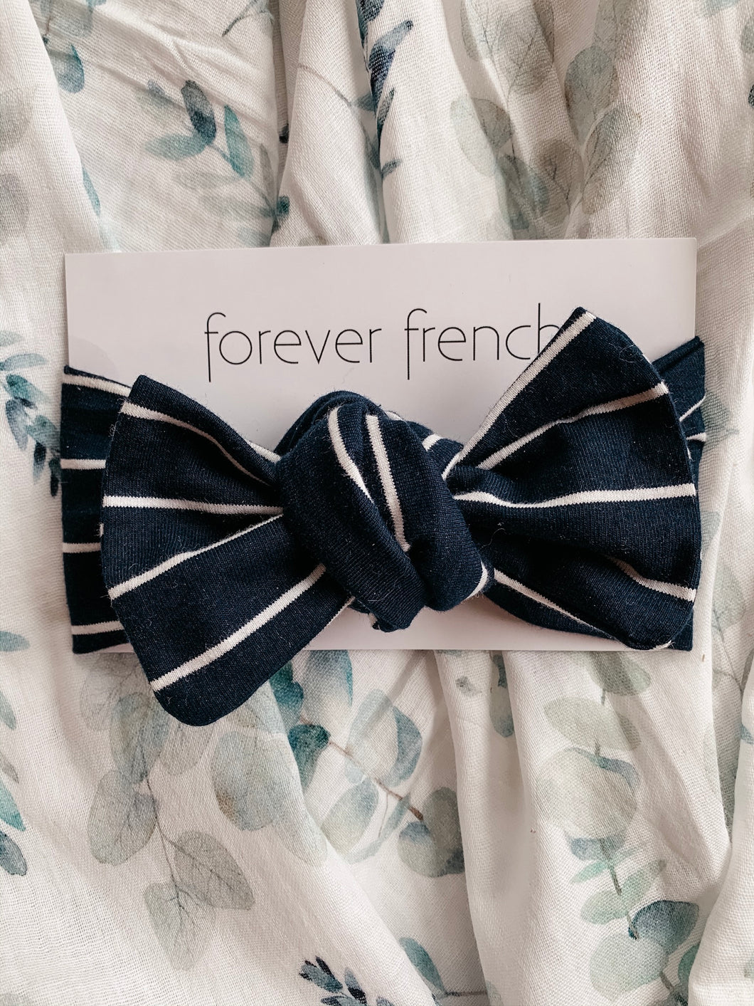 Navy Stripe Headwrap