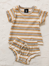 Load image into Gallery viewer, Ribbed Shortie Set - Retro Stripe