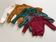 Load image into Gallery viewer, Ribbed Pull Over - Rust