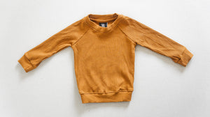 Ribbed Pull Over - Rust