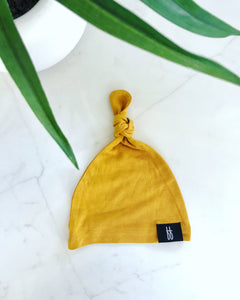 Golden Top Knot Hat