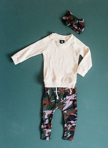 Fitted Jogger - Camo w/ Violet Vibes