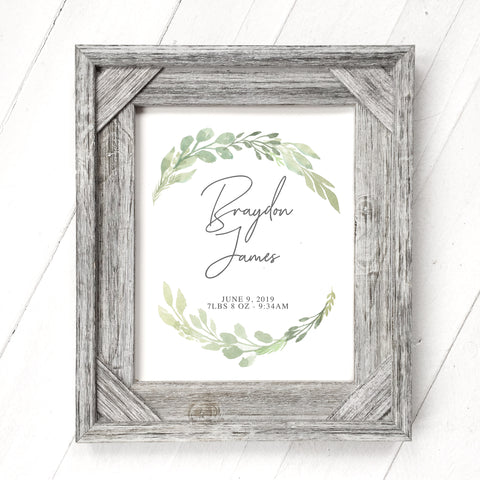 Framed Greenery - Customizable Print