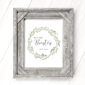Green Wreath - Customizable Print