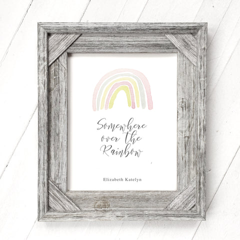 Pastel Rainbow - Customizable Print