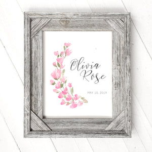 Pink Floral - Customizable Print