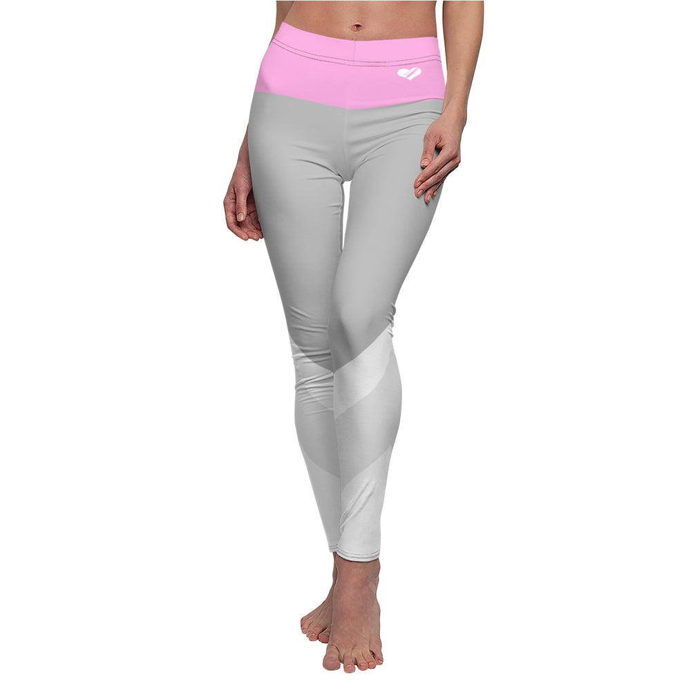 Love For Leggings™ - W/Pink High-Waistband - Love For Leggings