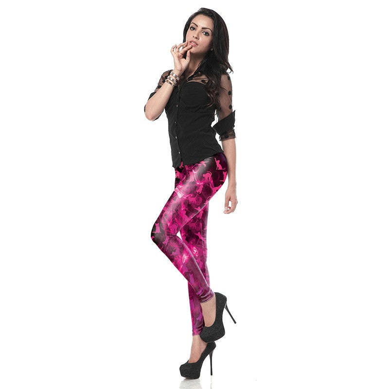 FireCats™ - Pink 3D Printed Leggings - Love For Leggings