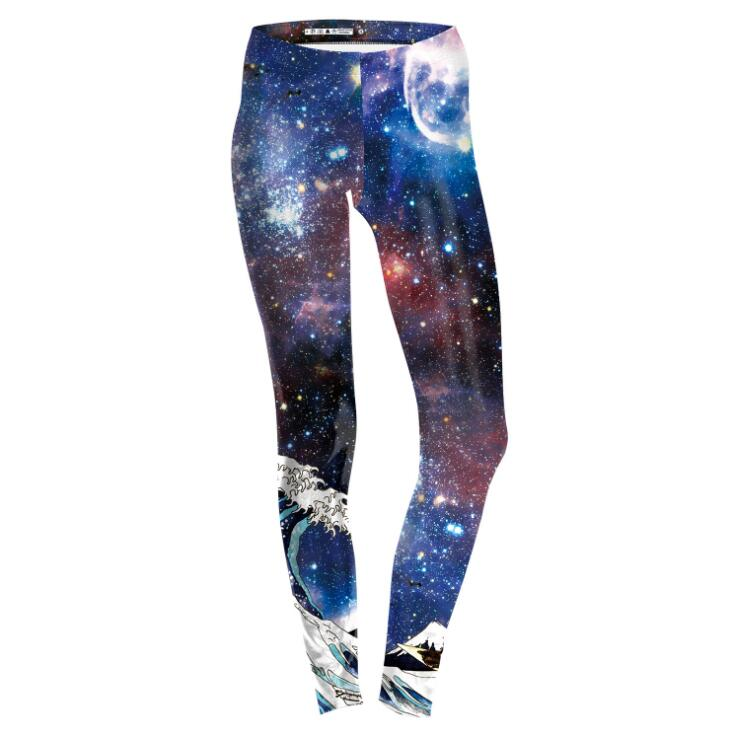 The Big Bangs™ - Black and White Galaxy Leggings