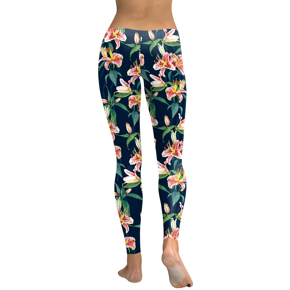 Fresh Fragrance Lily - Digital Print Leggings - Love For Leggings