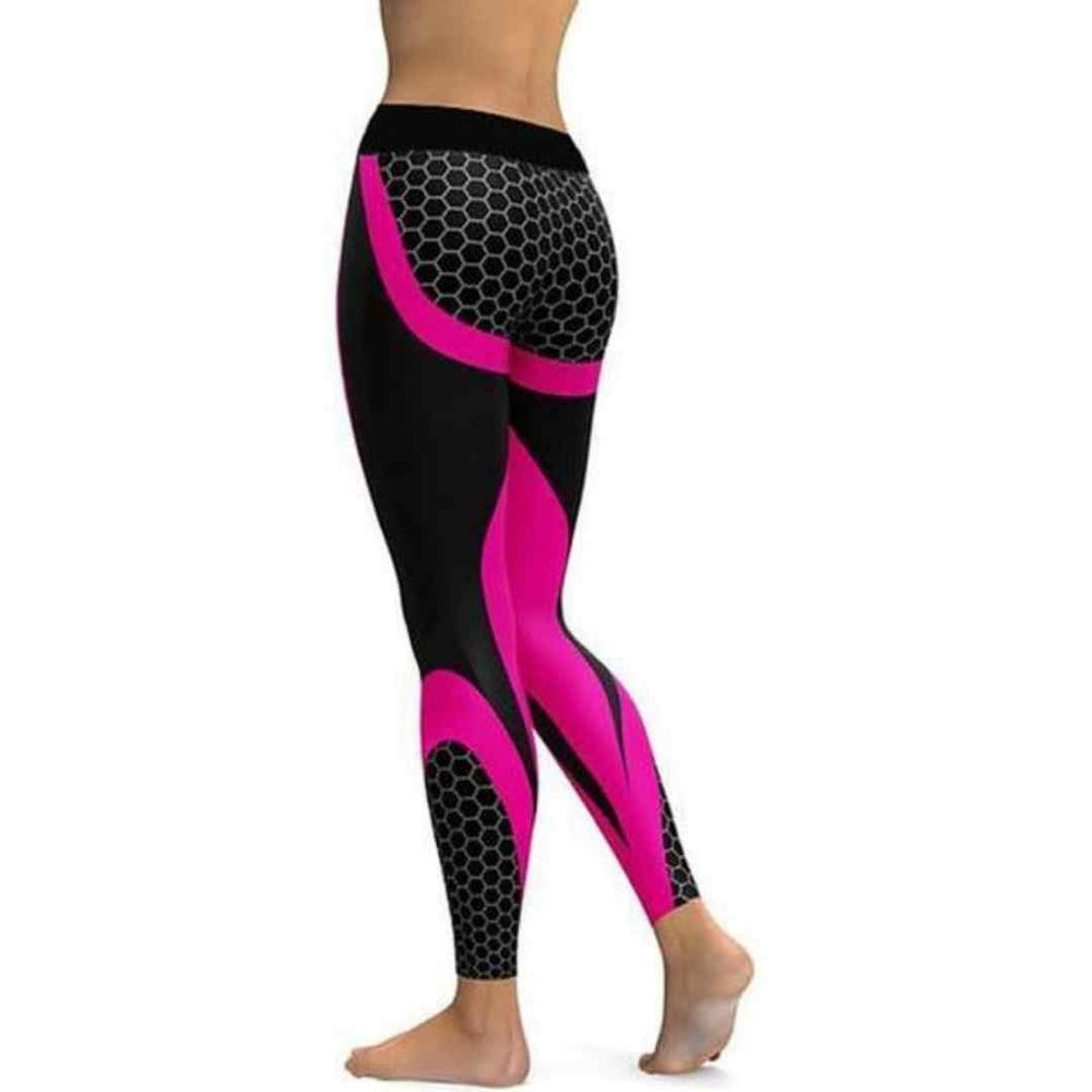 DragonScales™ - High-Waist Honeycomb Fitness Leggings