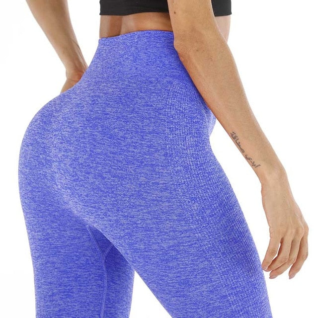 Kaminsky Women's Fashion Seamless Leggings Ladies Athleisure Sportswear Sweat Pants Trousers High Waist Solid Fitness Leggings
