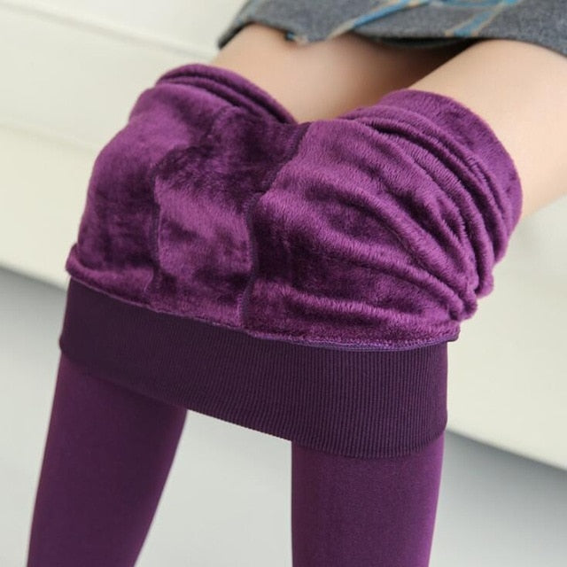 Winter Leggings Knitting Velvet Casual Legging New High Elastic Thicken Lady's Warm Black Pants Skinny Pants For Women Leggings
