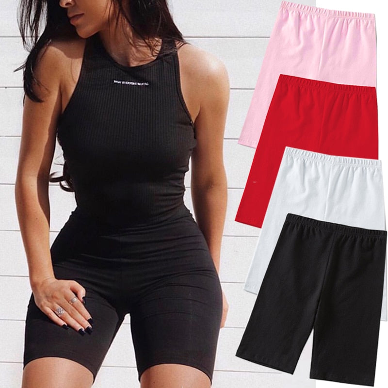 2020 Summer Fashion Shorts Women Sexy Biker Shorts Fitness Korean Casual Sexy Short 4 Color Athleisure Cycling Shorts S-XL