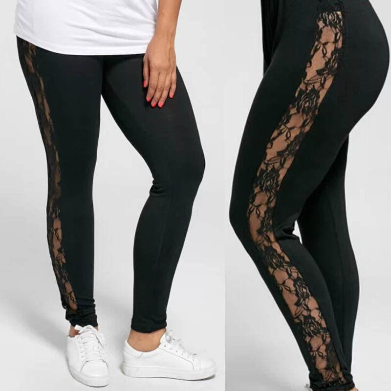 Plus Size Black Lace Leggings - Love For Leggings