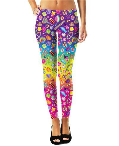 3D Colorful Print Leggings - Love For Leggings