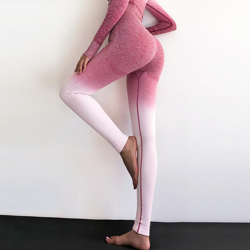 High Waist - Gradient 4-Way Stretch Leggings - Love For Leggings