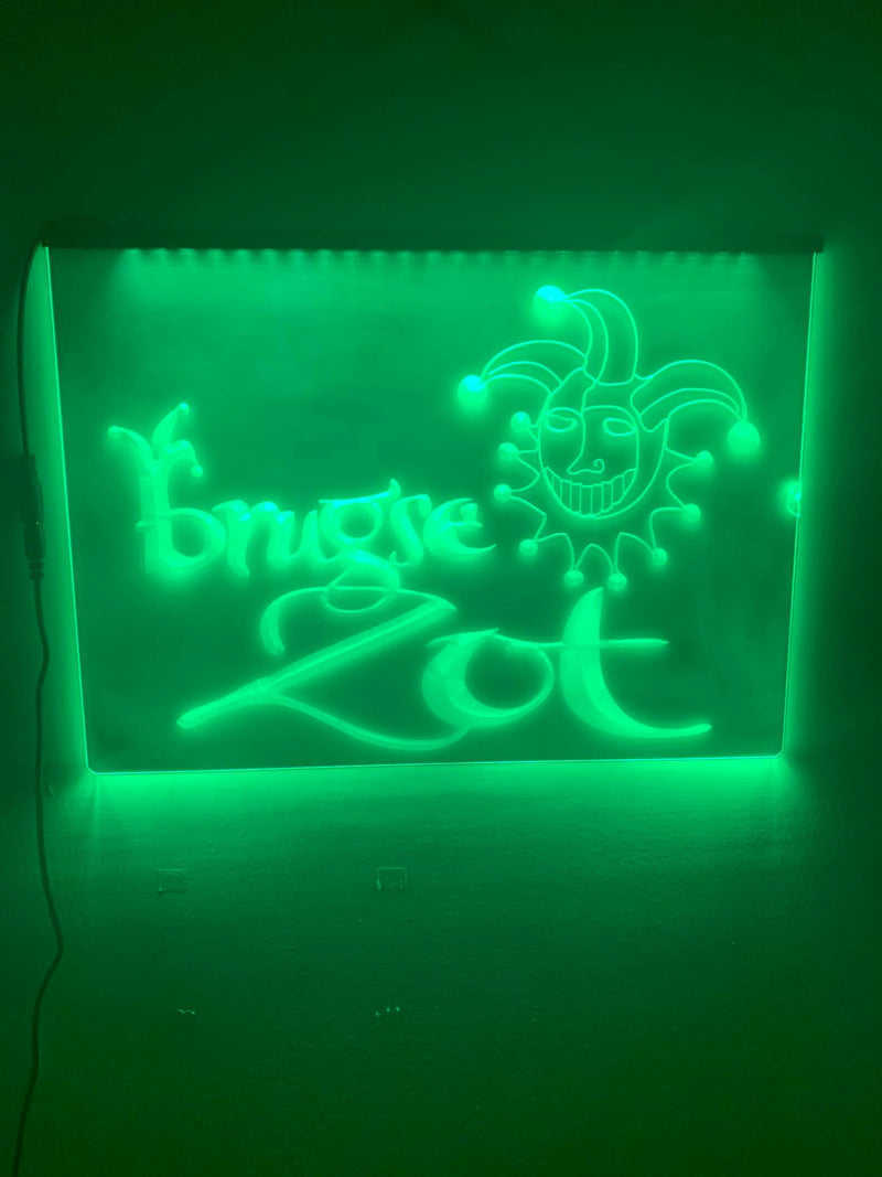 Brugse Zot LED Neon Sign - MannenDingen
