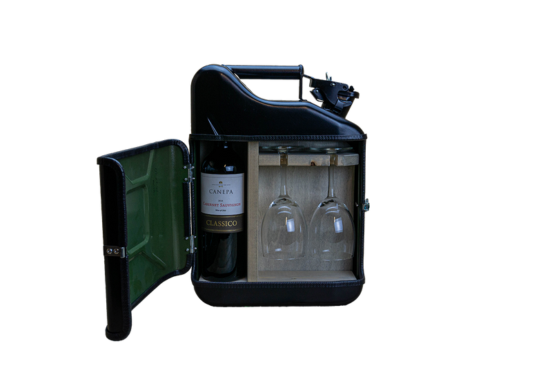 Jerry Can mini wijn bar - MannenDingen