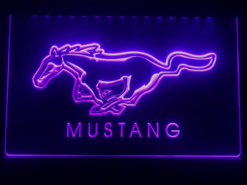 Ford Mustang LED Neon Sign - MannenDingen