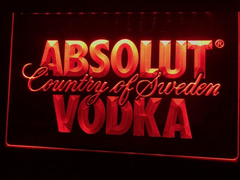 Absolut Vodka Country of Sweden LED Neon Sign - MannenDingen